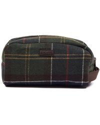 Barbour Tartan Wool Wash Bag Classic Check - Multicolor