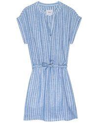 Rails Robe en lin St Germain à rayures Emma - Bleu