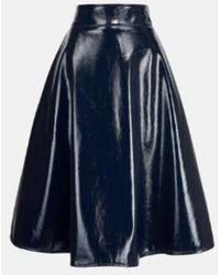 Essentiel Antwerp Falda cuero faux arco - Azul
