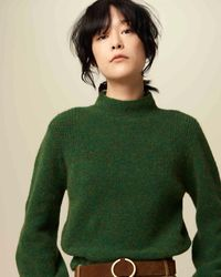 Sessun Irish Green Turtleneck Loli Jumper