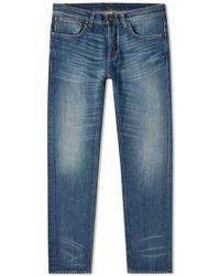 Nudie Jeans Flat Vintage Grim Tim Slim Fit Jeans - Blue