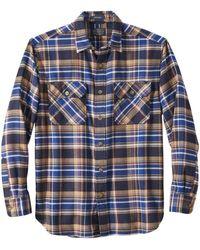 Pendleton Burnside Flanellhemd Marineblau Rot Plaid