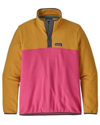 Patagonia Pull Micro D Snap T Ultra Rose - Multicolore