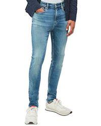 Calvin Klein Ckj 016 Vaqueros pitillo 1 A 4 Azul medio brillante