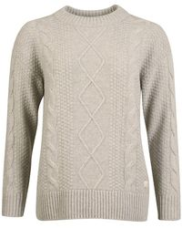 Barbour Mujer Wildsmith Knit Gris Marl