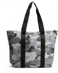 Rains Rush Camo Tote Bag - Black