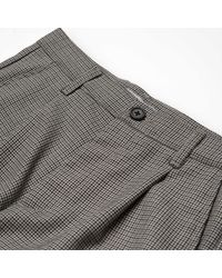 Carhartt Black Wool And Polyester Lewis Houndstoot Pullman Ankle Pant