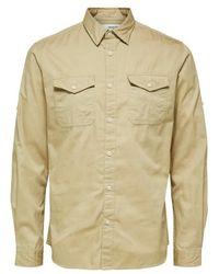 SELECTED Safari River Shirt - Natur