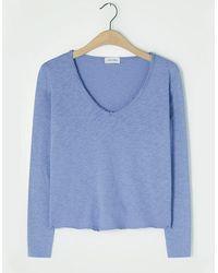 American Vintage Sonoma V Neck T Shirt Bleute Vintage - Blue
