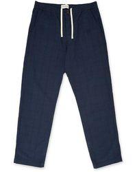 Oliver Spencer Drawstring Trouser In Hesketh Navy - Blue