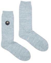 Folk Melange Socks Mist Melange - Blue
