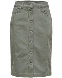 SELECTED Lise High Waisted Green Denim Skirt