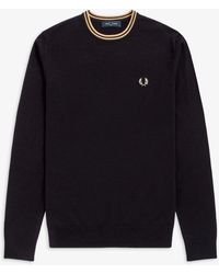 Fred Perry - Classic Crew - Lyst
