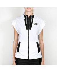 Nike White And Black Tech Hypermesh Vest Coat