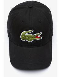 Lacoste Big Croc Cap Black