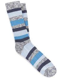 Birkenstock Jeans mélange chaussettes à rayures à rayures - Bleu