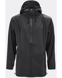 Rains Unisex Black Breaker Jacket - Multicolour
