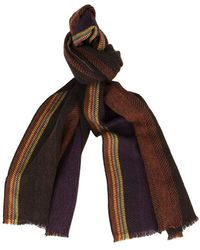 Paul Smith Scarf Recycled Multi - Brown
