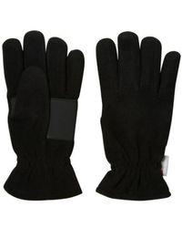 SELECTED Tristan Fleece Handschuhe schwarz