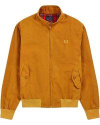Fred Perry Reediciones Made in England Harrington Wax Jacket Gold Leaf - Amarillo