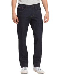 Tommy Hilfiger Https://www.trouva.com/it/products/tommy-hilfiger-rinse-comfort-tommy-jeans-ryan-straight-jeans - Blu
