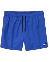 Tommy Hilfiger Shorts de natación con cordón Navega por la Web - Azul