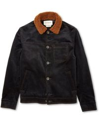 Oliver Spencer - Https://www.trouva.com/it/products/oliver-spencer-buffalo-jacket-midnight-cord - Lyst
