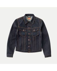 Nudie Jeans Chaqueta Vaquera Billy Dry Ring - Azul
