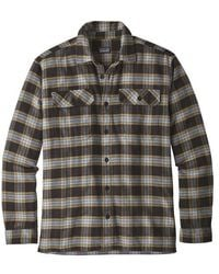 Patagonia Long Sleeved Fjord Flannel Shirt Migration Plaid Small Black Misb - Multicolor