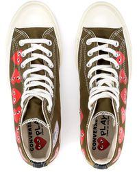 COMME DES GARÇONS PLAY Khaki Mehrere Herzen Chuck Taylor Hi Top Sneakers - Mehrfarbig