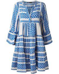Devotion Robe de broderie Zakar Blue - Bleu