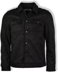 Farah - Black Cleethorpes Faux Suede Jacket - Lyst