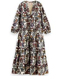 Scotch & Soda Multicolor Organic Cotton Printed Dress