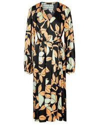 Stine Goya Vestito Sebie Stampa Limone - Multicolore
