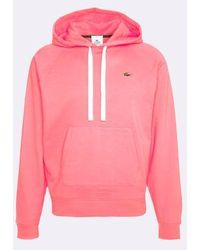 Lacoste Live Sudadera Loose Fit - Rosa