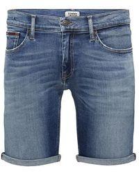 Tommy Hilfiger Slim Fit Jeansshorts mit Stretch-Anteil - Blau