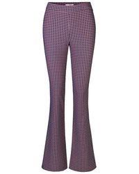 Stine Goya Pantaloni Nola Grid - Viola