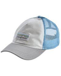 Patagonia Womens Pastel P 6 Label Layback Trucker Hat White W Drifter Grey