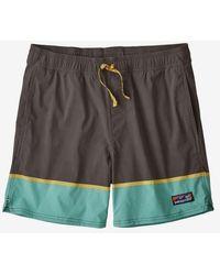 Patagonia Stretch Wavefarer Volley Shorts 16 Schmiedegrau - Mehrfarbig