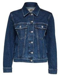 SELECTED Story Spruce Blue Denim Jacket