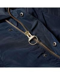 Barbour Hooded Bedale Japan Collection Navy - Bleu