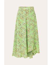 Stine Goya Https://www.trouva.com/it/products/stine-goya-green-hearts-marigold-skirt - Verde