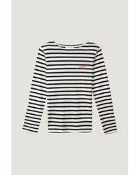 """Maison Labiche Breton Shirt Montpar """"amour"""" - Blue"""