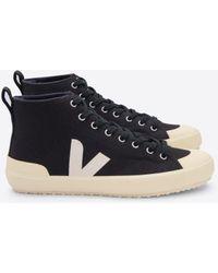 Veja Zapatos Nova HT Canvas Black Butter Sole - Negro
