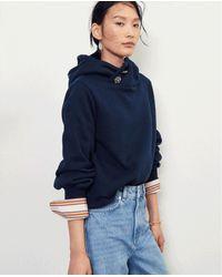 Ba&sh Https://www.trouva.com/it/products/baandsh-daren-navy-sweatshirt - Blu