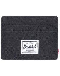 Herschel Supply Co. Porte-cartes de blocage Charlie Rfid en tissu noir