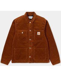 Carhartt Brandy Michigan Coat (Rinsed) Hombre - Marrón