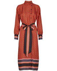 Second Female Tiles Midi Dress - Red