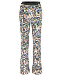 Stine Goya Pantalon Andy Flower Euphoria - Bleu