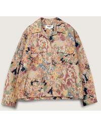 YMC Vegas Cotton Viscose Long Sleeved Shirt Multi - Multicolor